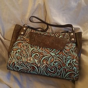Patricia Nash romina turquois  tooled w wallet